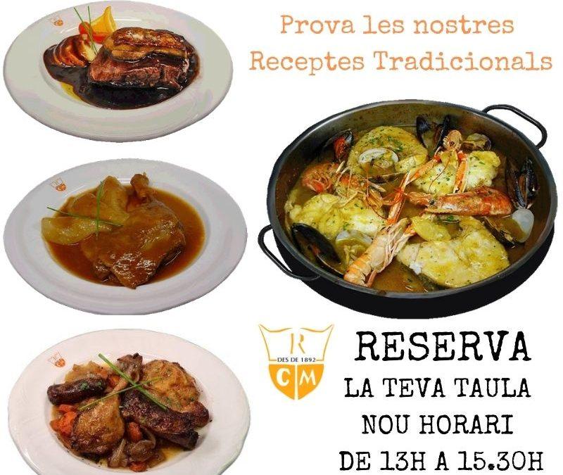 Reserva tu mesa On Line en tu Restaurante Girona. Nuevos Horarios.